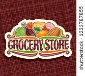 vector logo for grocery store ... | Shutterstock .eps vector #1233787855