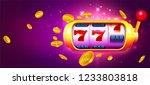 trendy casino vector...   Shutterstock .eps vector #1233803818