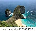 angel bay in nusa penida ... | Shutterstock . vector #1233805858