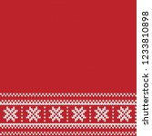 knitted sweater design with... | Shutterstock .eps vector #1233810898