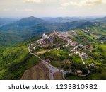 aerial view of white buddha... | Shutterstock . vector #1233810982