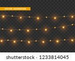 christmas decorations  isolated ... | Shutterstock .eps vector #1233814045