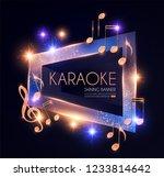 shining karaoke party banner... | Shutterstock .eps vector #1233814642