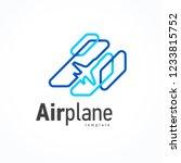 airplane action takeoff flight... | Shutterstock .eps vector #1233815752