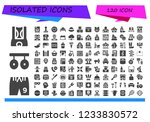 vector icons pack of 120 filled ... | Shutterstock .eps vector #1233830572
