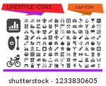 vector icons pack of 120 filled ...   Shutterstock .eps vector #1233830605