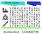 vector icons pack of 120 filled ... | Shutterstock .eps vector #1233830758