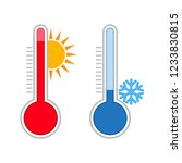 meteorology thermometers.... | Shutterstock . vector #1233830815