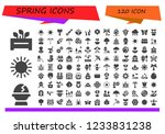 vector icons pack of 120 filled ...   Shutterstock .eps vector #1233831238