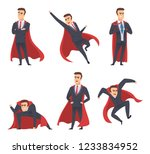 businessman superheroes. office ... | Shutterstock .eps vector #1233834952