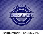 non flammable emblem with jean... | Shutterstock .eps vector #1233837442