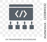 frameworks icon. trendy flat... | Shutterstock .eps vector #1233844132