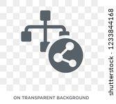 data modelling icon. trendy... | Shutterstock .eps vector #1233844168