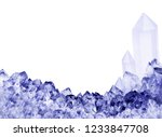 macro photo of blue sapphire... | Shutterstock . vector #1233847708
