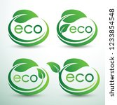 green eco labels concept with... | Shutterstock .eps vector #1233854548