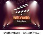 bollywood indian cinema. movie...   Shutterstock .eps vector #1233854962