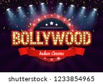 bollywood indian cinema. movie... | Shutterstock .eps vector #1233854965