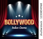 bollywood indian cinema. movie... | Shutterstock .eps vector #1233854968
