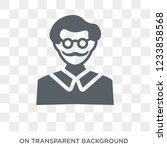 writer icon. trendy flat vector ... | Shutterstock .eps vector #1233858568