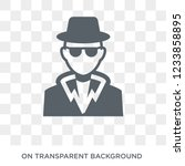 detective icon. trendy flat... | Shutterstock .eps vector #1233858895
