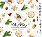 christmas vector background.... | Shutterstock .eps vector #1233858955