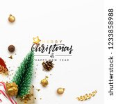christmas greeting card. xmas... | Shutterstock .eps vector #1233858988