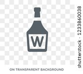 whisky icon. trendy flat vector ... | Shutterstock .eps vector #1233860038