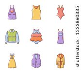 rag icons set. flat set of 9... | Shutterstock .eps vector #1233860335