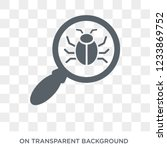 virus search icon. trendy flat... | Shutterstock .eps vector #1233869752