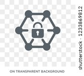 private network icon. trendy... | Shutterstock .eps vector #1233869812