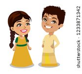 a little brother sister duo...   Shutterstock .eps vector #1233871342