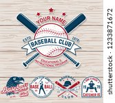 set of baseball or softball... | Shutterstock .eps vector #1233871672