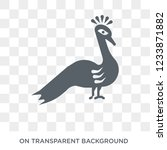 peacock icon. trendy flat... | Shutterstock .eps vector #1233871882