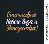 handwritten phrase  translated... | Shutterstock .eps vector #1233873958