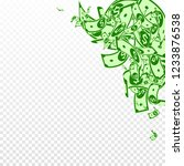 american dollar notes falling.... | Shutterstock .eps vector #1233876538
