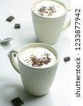 homemade hot chocolate drink... | Shutterstock . vector #1233877942