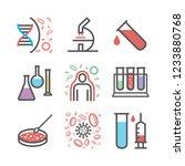immunology department line... | Shutterstock .eps vector #1233880768