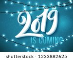 hello happy new year 2019... | Shutterstock .eps vector #1233882625