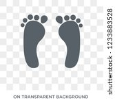 human footprints icon. trendy... | Shutterstock .eps vector #1233883528