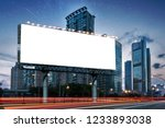 billboard clear mock up in... | Shutterstock . vector #1233893038
