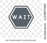 waiting sign icon. trendy flat...   Shutterstock .eps vector #1233897685