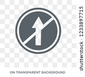 straight sign icon. trendy flat ... | Shutterstock .eps vector #1233897715