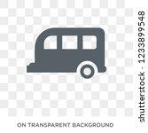 caravan sign icon. trendy flat...   Shutterstock .eps vector #1233899548