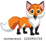 cartoon red fox .isolated... | Shutterstock .eps vector #1233901735