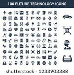 100 future technology universal ... | Shutterstock .eps vector #1233903388