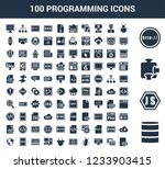 100 programming universal icons ... | Shutterstock .eps vector #1233903415