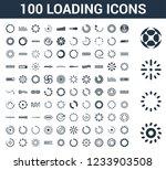 100 loading universal icons set ... | Shutterstock .eps vector #1233903508