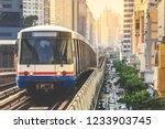bts sky train is running in...   Shutterstock . vector #1233903745