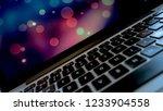 computer keyboard close up.... | Shutterstock . vector #1233904558