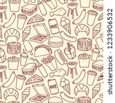 background pattern with fast... | Shutterstock .eps vector #1233906532